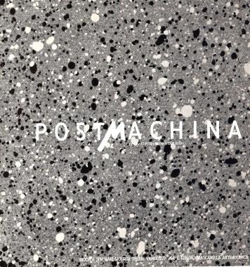 1 -Postmachina - Bologna 1984 copertina del Catalogo