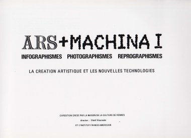 Ars + Machina 1 Rennes 1981