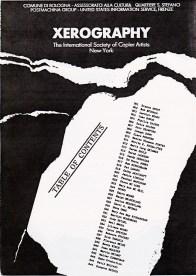 Xerography - GAM Bologna 1986 - table of contents