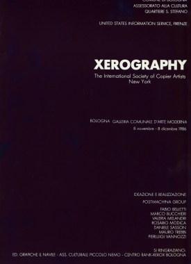 Xerography - interno copertina catalogo